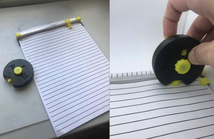 La imagen en relieve de Braille de bricolaje es realmente impresionante