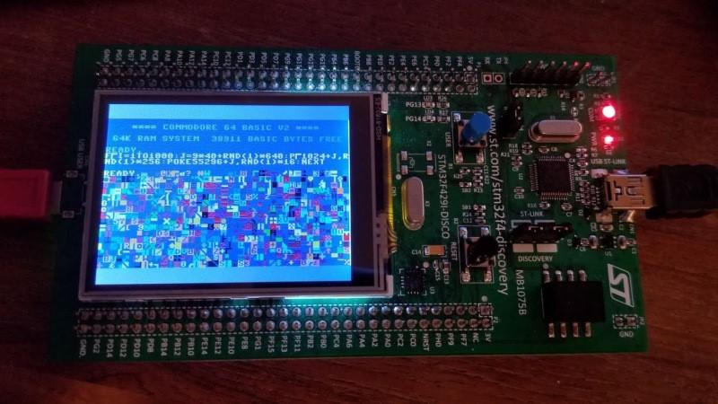 C64 funciona en el descubrimiento STM32F429