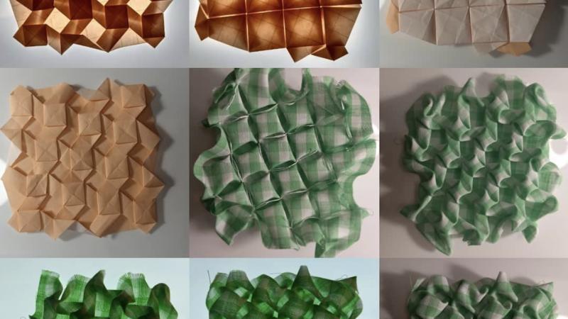 Origami Tejido Y Modular De Tela Y Papel