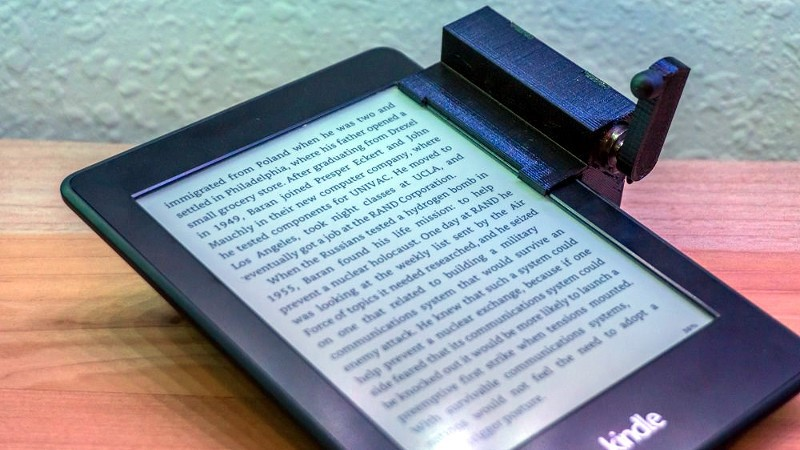 Pasador de páginas de Kindle controlado de forma remota