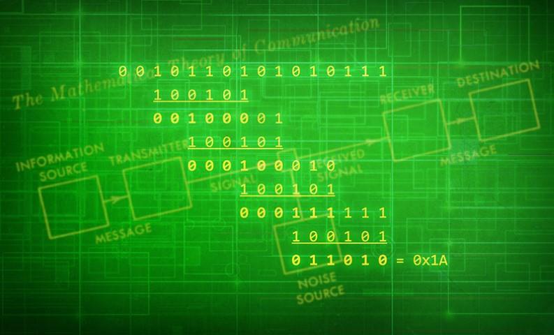 Detección y corrección de errores: diagramas de Reed-Solomon, convolución y enrejado
