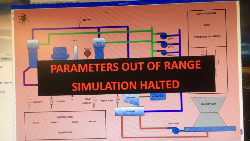 El simulador de reactor nuclear es un proyecto de por vida