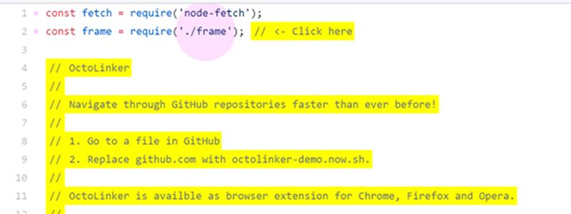 El hipervínculo llega a GitHub por extensión