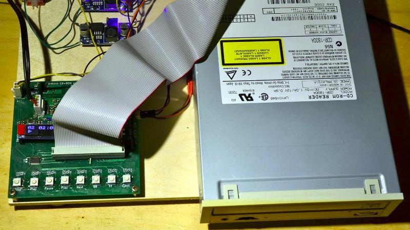 Arduino y disco CD-ROM hacen un reproductor de CD