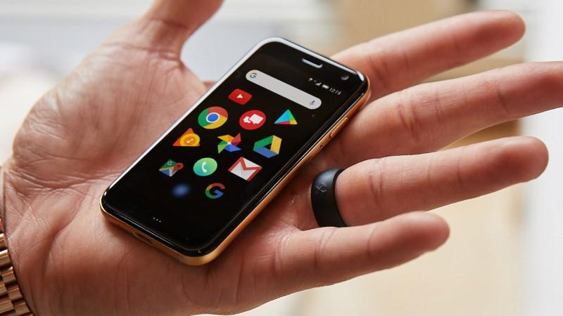 El teléfono móvil Palm Mini se convierte en un teléfono para bicicletas