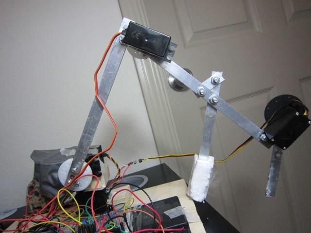 Piezas y piezas de brazo robot
