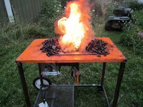 Construyendo una forja de carbón