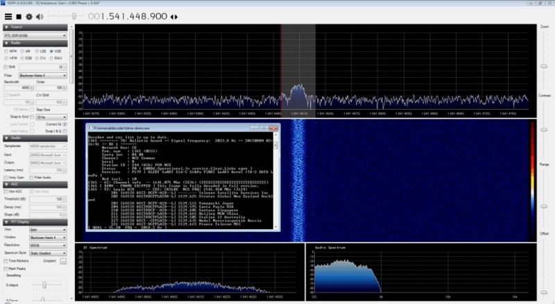 Decodificación de mensajes de texto por satélite con RTL-SDR y antena GPS pirateada