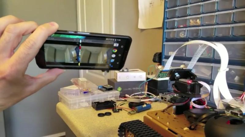 Tanque de telepresencia VR por Raspberry Pi, Google Cardboard y controlador Xbox