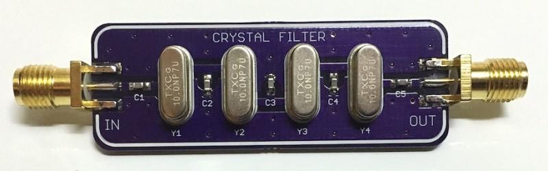 Diseño de un filtro de banda de escalera de cristal
