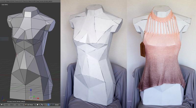 El maniquí de moda es un arte de papel reforzado con fibra de vidrio