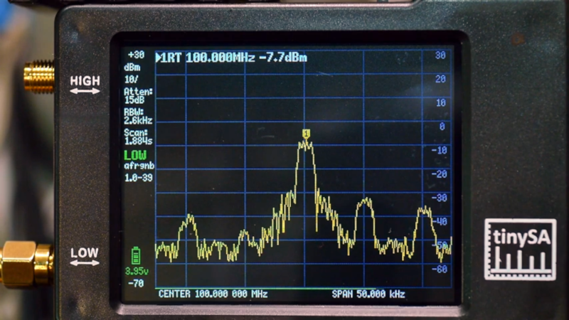 TinySA es un analizador de espectro de $ 49