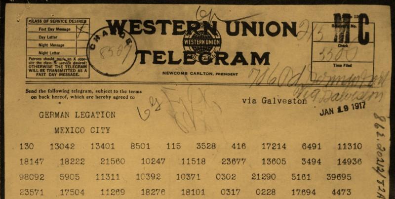 El telegrama de Zimmermann
