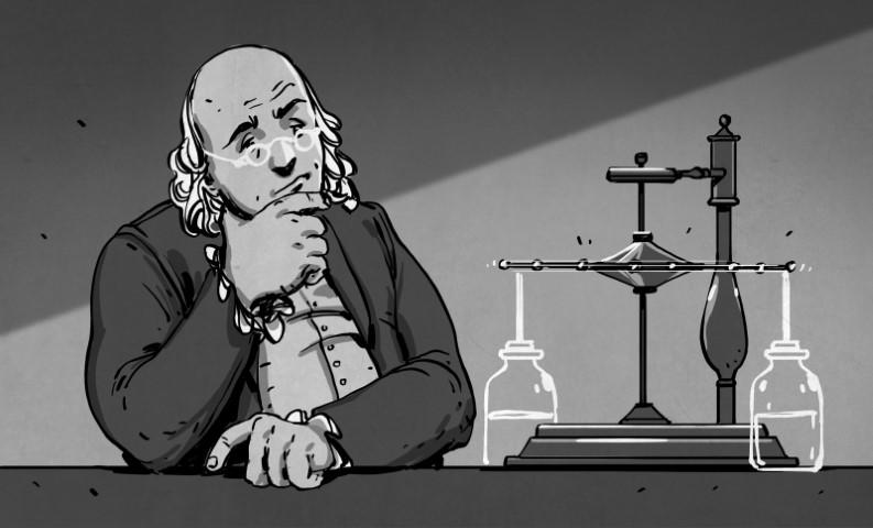 El motor débil de Ben Franklin y otro movimiento olvidado