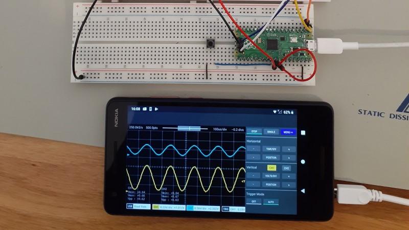 Osciloscopio Raspberry Pi Pico