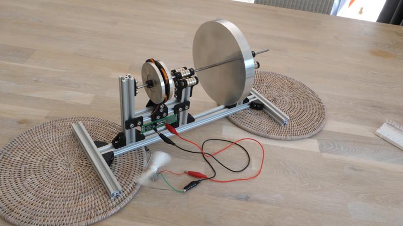 Las suspensiones magnéticas ponen la columna vertebral en esta batería inercial