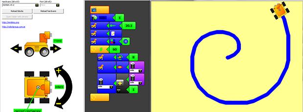 MiniBloq IDE, programación gráfica para robots de todos los tamaños