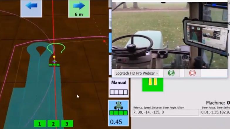 El tractor se conduce solo, gracias a ESP32 y al código abierto